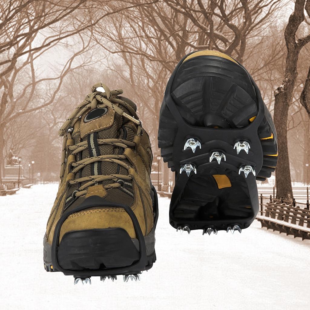 1 Pair Ice Climbing Anti Slip Shoe Spike Grip Snow Walking Shoes Protective Tool