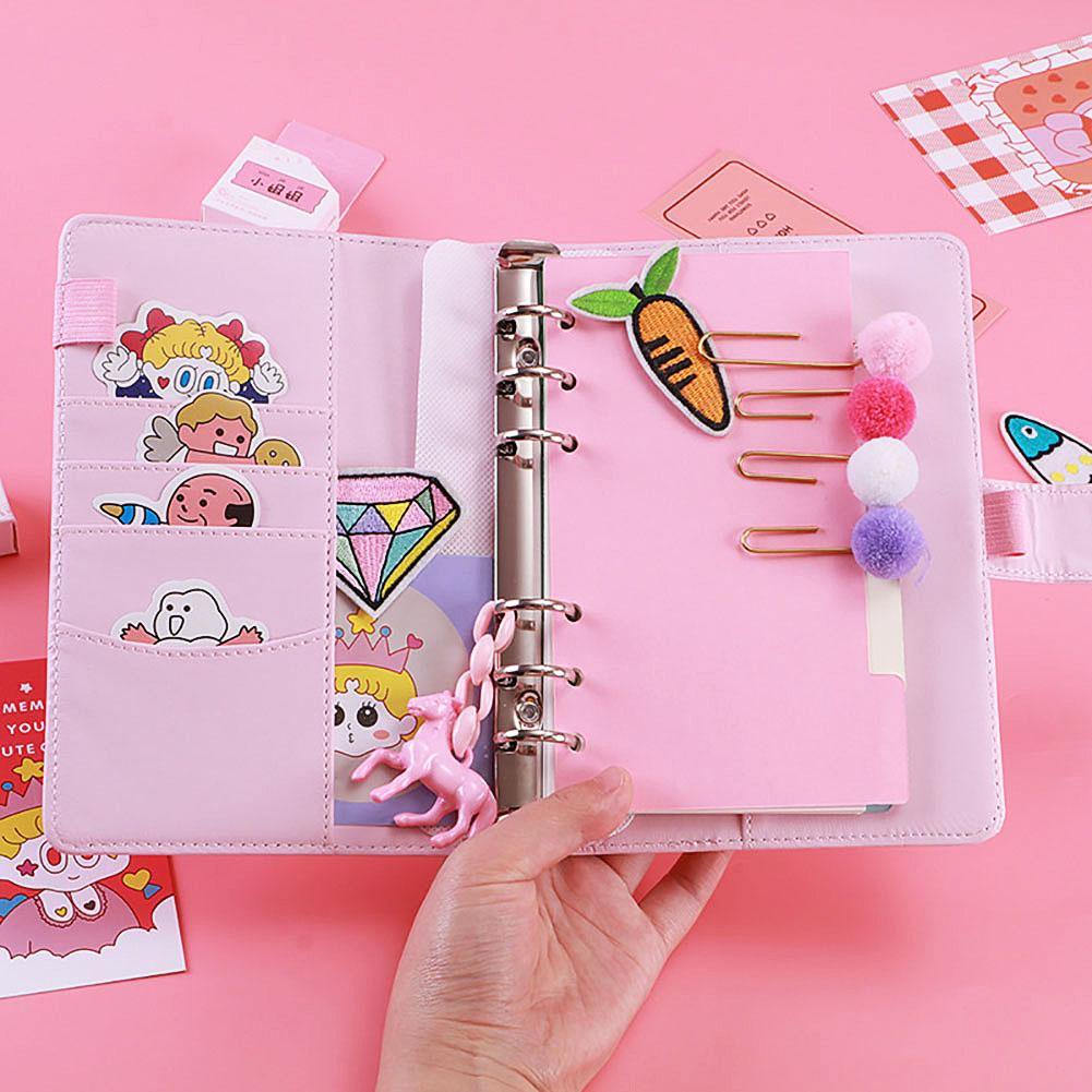 Hard Cover Cute Ring Binder Mini Notepad Cartoon Portable Hand Account School Kawaii Planner Memo Pad 2019 2020 Agendas Notebook