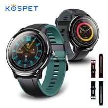 KOSPET בדיקה IP68 עמיד למים SmartWatch גברים מלא מגע מסך עגול לב קצב ניטור חכם שעון גברים נשים כושר צמיד