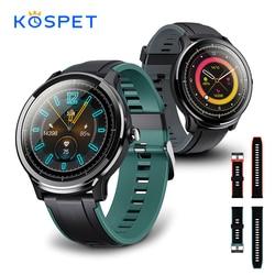 KOSPET sonda IP68 wodoodporny SmartWatch mężczyźni w pełni dotykowy okrągły ekran monitorowanie tętna inteligentny zegarek mężczyźni kobiety bransoletka Fitness