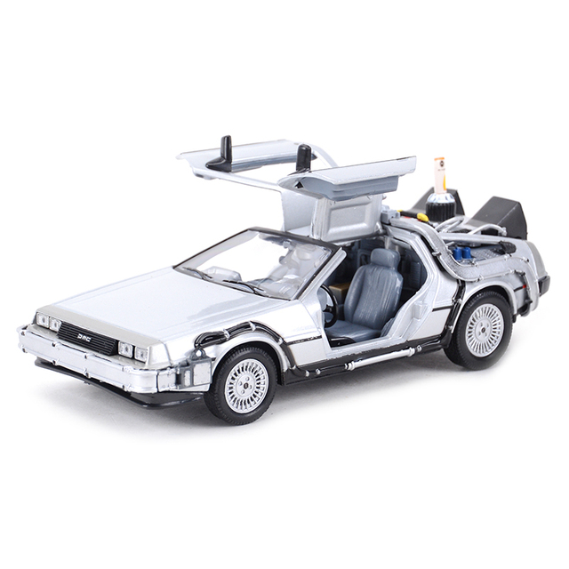Welly 1:24 DMC-12 DeLorean Time Machine Back to the Future Car Static Die Cast Vehicles Collectible Model Car Toys 3