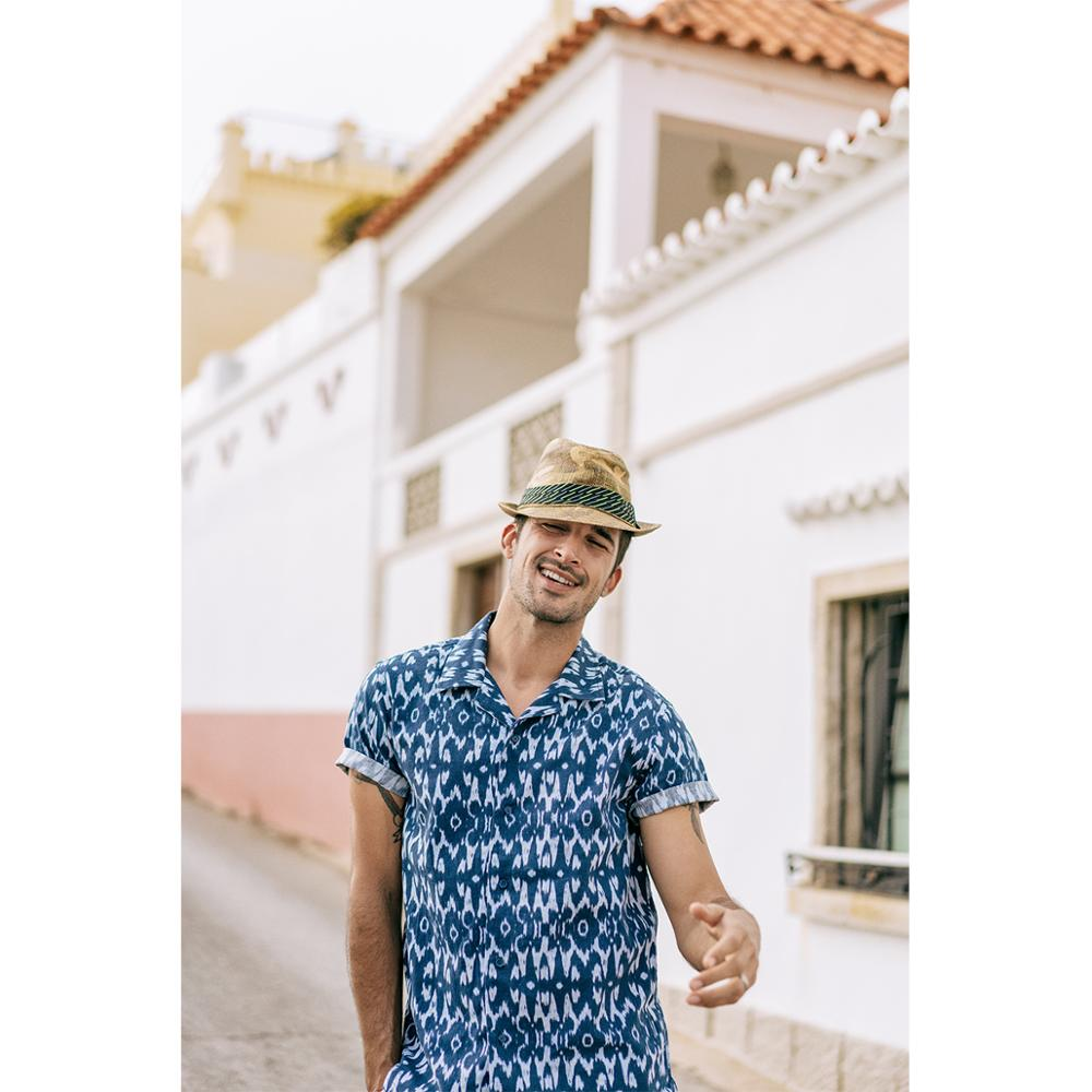 SIMWOOD 2020 summer new Hawaii shirts men light cotton linen beach holiday cool shirts plus size causal breathable tops SJ170063