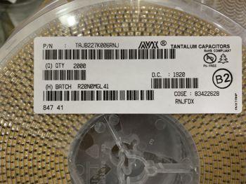цена на 50pcs/lot Original AVX SMD tantalum electrolytic capacitor A/B/C series 20% free shipping