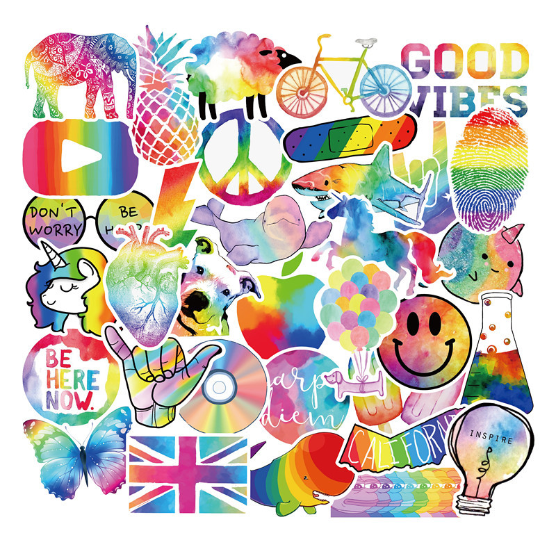 50PCS Cartoon Symphony Colorful Kawaii Stickers For Chidren Toy Waterproof Sticker To DIY Laptop Bicycle Helmet Car Decals F4
