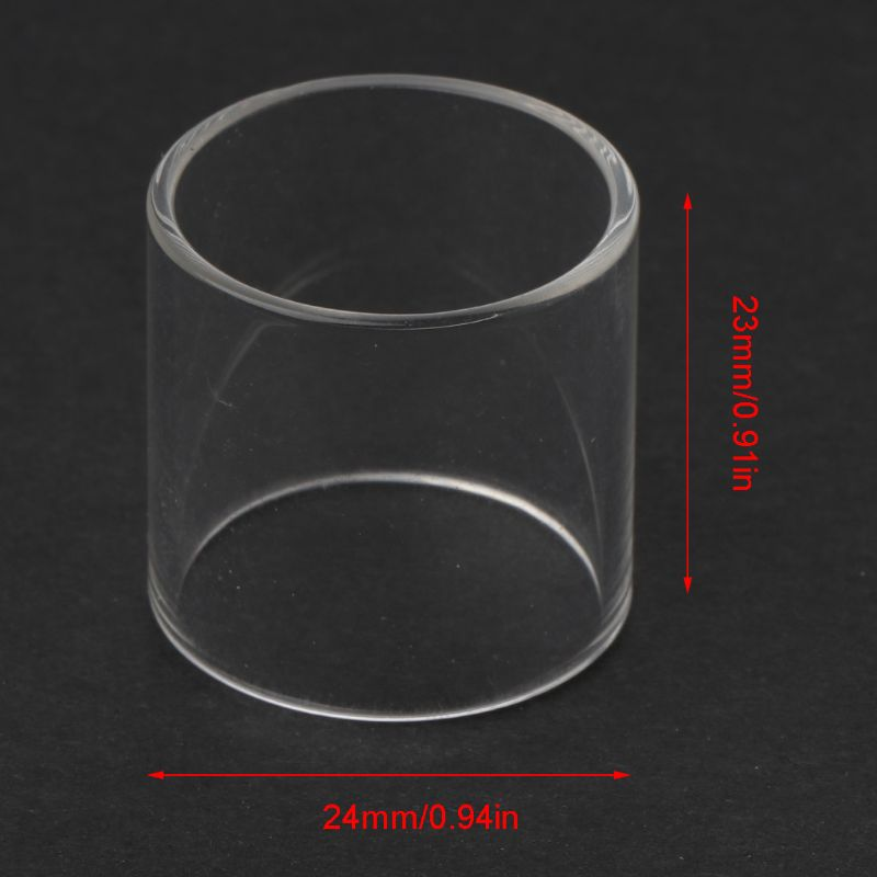 Clear Straight Glass Tube Transparent Pyrex Glass Tank For TFV8 Big Baby RBA Kit
