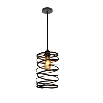 LED Vintage Pendant Light Loft Spiral Style Hanging Lamp Iron Art Rustic Rusty Cage For Kitchen Dining Room Lighting Fixtures цена 2017