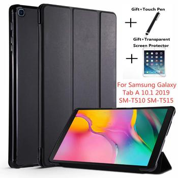 Case For Samsung Galaxy Tab A 10.1 2019 SM-T510 SM-T515 WI-FI LTE Flip Tablet Cover PU Leather Smart Magnetic Stand Shell Coque case for samsung galaxy tab a 10 1 2019 sm t510 sm t515 wi fi lte flip tablet cover pu leather smart magnetic stand shell coque