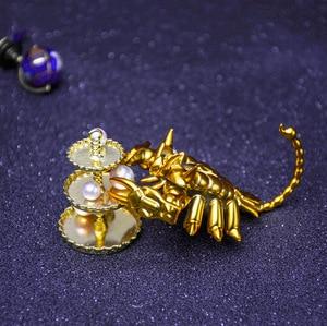 Image 4 - Saint Seiya estatua del zodiaco dorado, colección de figuras de acción de PVC, 12 Constelaciones, 12 unidades