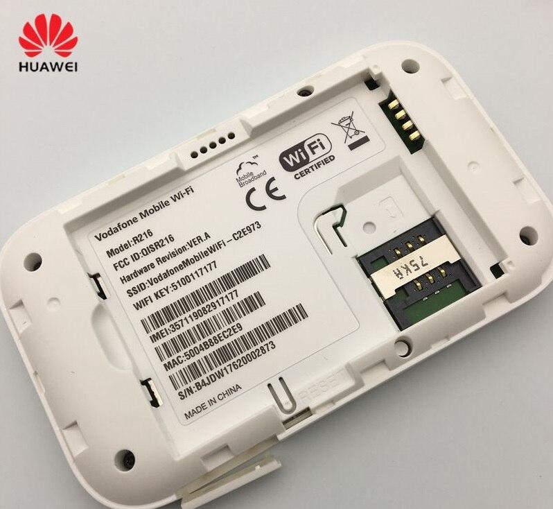 Desbloqueado HUAWEI Vodafone R216 R216H 4G Router inalámbrico 150Mbps Mobile Hotspot bolsillo Mifi módem 4G coche WiFi 2 antenas PK E5573 - 6