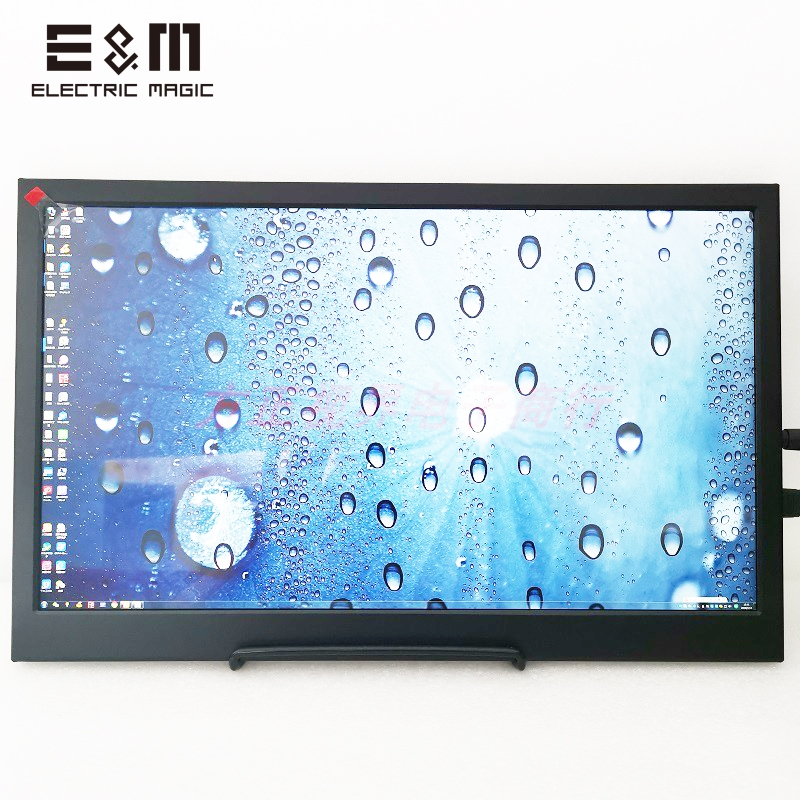 15.6 Inch 4K IPS Portable Monitoe LCD Screen Mini DP HDMI Display For Raspberry Pie Xbox PS4 Games 3840 * 2160 60Hz With Speaker
