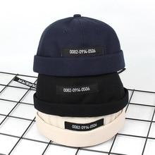 Cotton Retro Crimping Brimless Skull Caps Autumn Winter Hip Hop Cap Beanies For Men Women Beanie Bonnet Hat