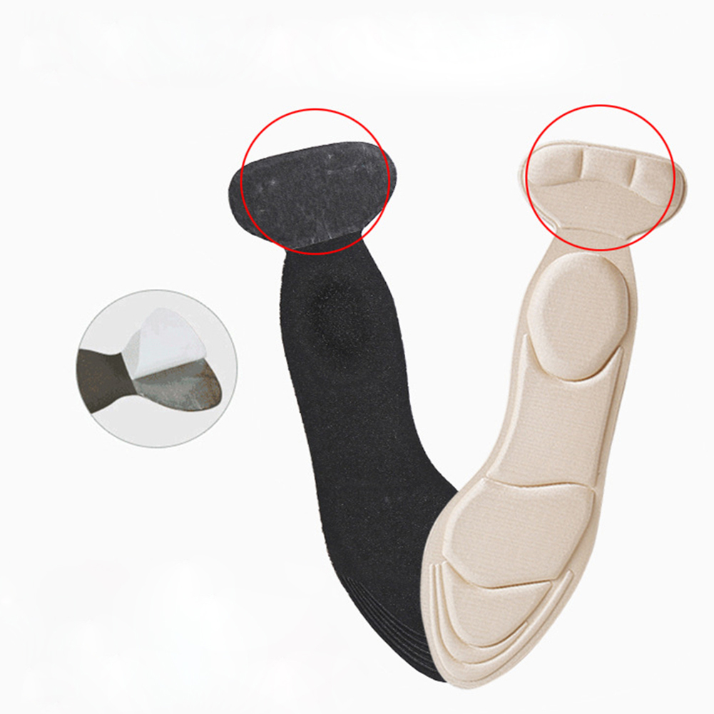 Hot Silicone Sport Shoes Pad Comfortable Gel Insoles Massage Sole Shoe Women Insoles Inserts Shock Absorption Pads Black Nude