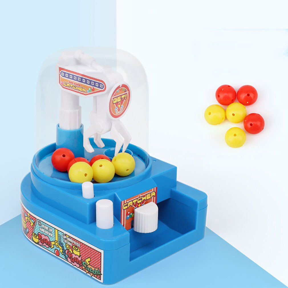 Girls And Boys Mini Ball Catching Machine Small Toy Plastic Candy Ball Gripper For Kid Educative Toy