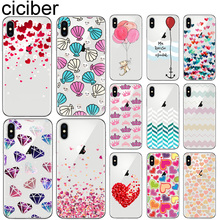 ciciber Heart Phone Cases For Iphone 7 8 6 6S Plus 5S SE XR X XS MAX Soft silicone TPU Cover for iphone 11 Pro Max Balloon Coque ciciber for iphone 7 8 6 6s plus 5s se x xr xs max soft silicone tpu cover for iphone 11 pro max phone case ariana grande coque