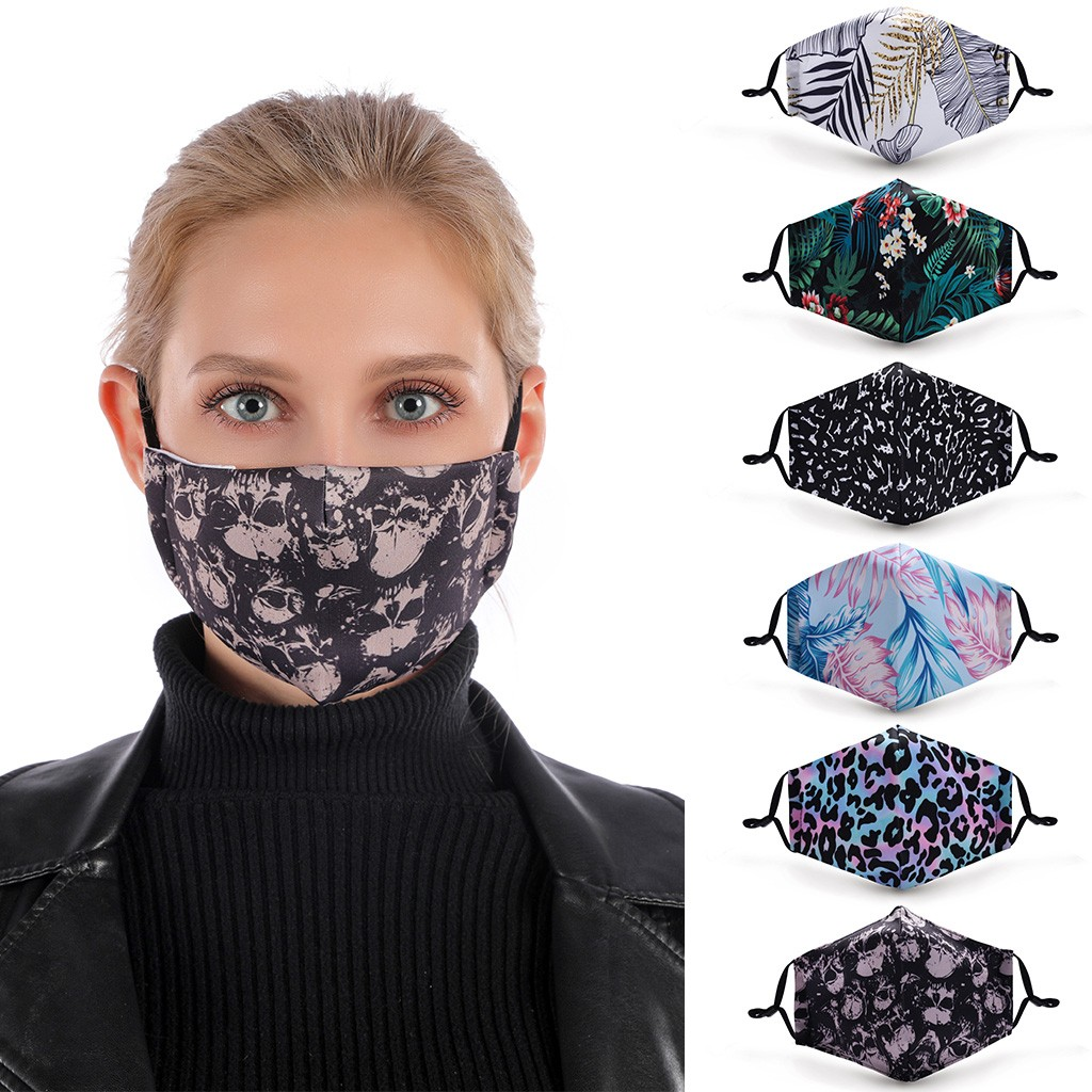 Reusable Mouth Face Maske Washable Protective PM2.5 Filter Maske Fashion Print Anti Dust Maske Windproof Mouth-muffle Face Maske