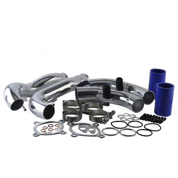 цена на AUTO silicone hose Aluminum Intercooler Pipe Intakes Pipe Silicon hoses Kit Suit for AUDI A4 air intake hose