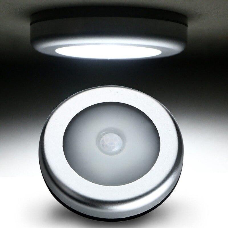 PIR Motion Sensor 6 LED Light Under Cabinet Light Kitchen Bedroom Wireless Magnetic Closet Light Sensor Stair Light Night Lamp
