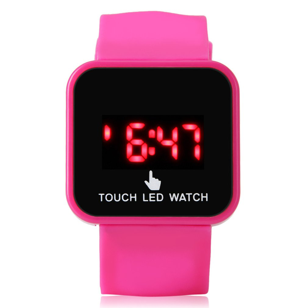 Children'S Watch Square Led Touch Screen Luminous Table Trend Men And Women Fashion Personality Student Electronic Watch