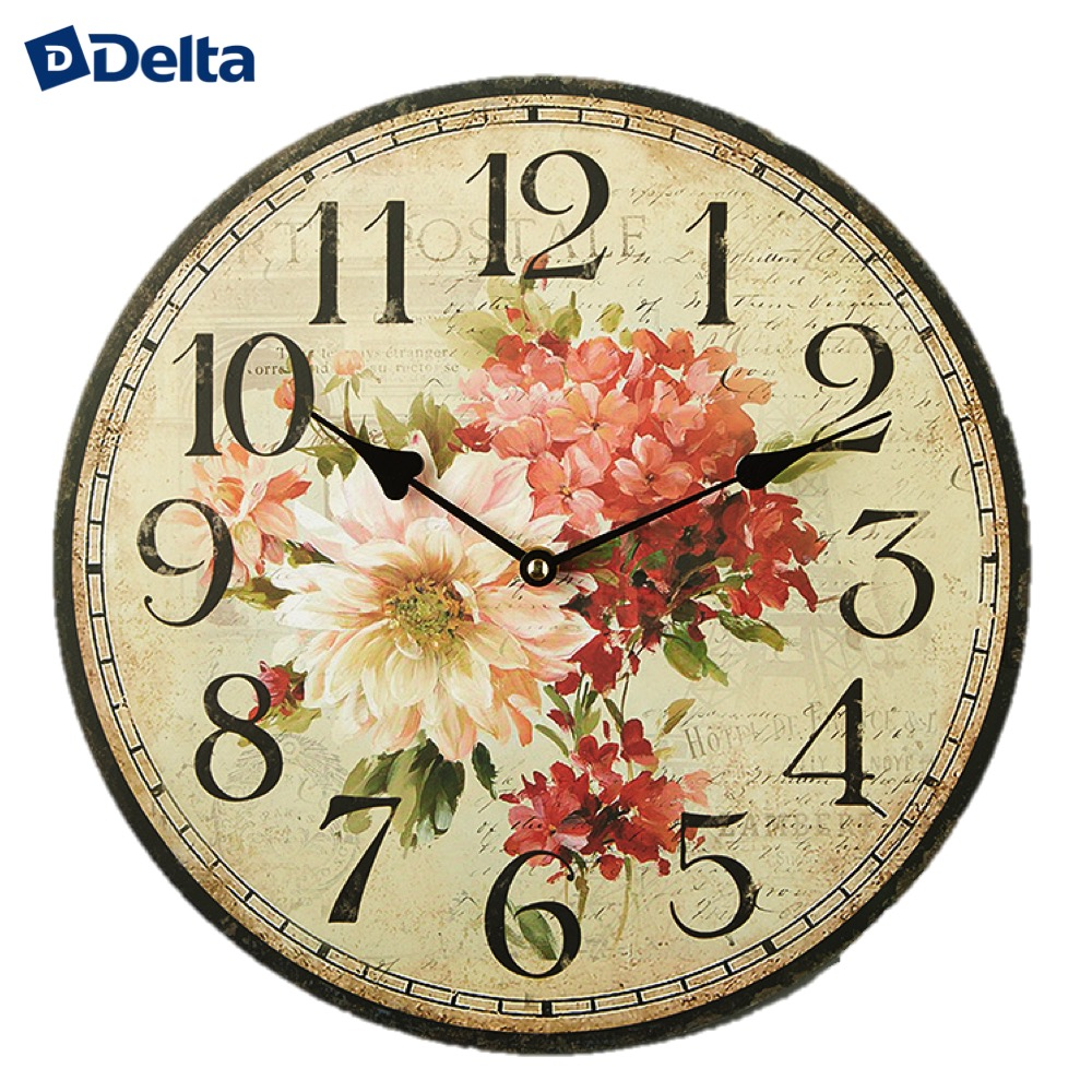 Wall Clocks Delta DT-0150  clock home decor classic look батарея delta dt 6045 4 5ач 6b