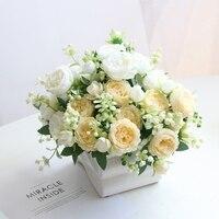 5 köpfe Persische Rosen Künstliche Pfingstrose Bouquet Hause Hochzeit Dekoration Wohnzimmer Tisch Dekoration Gefälschte Blumen Nanairo