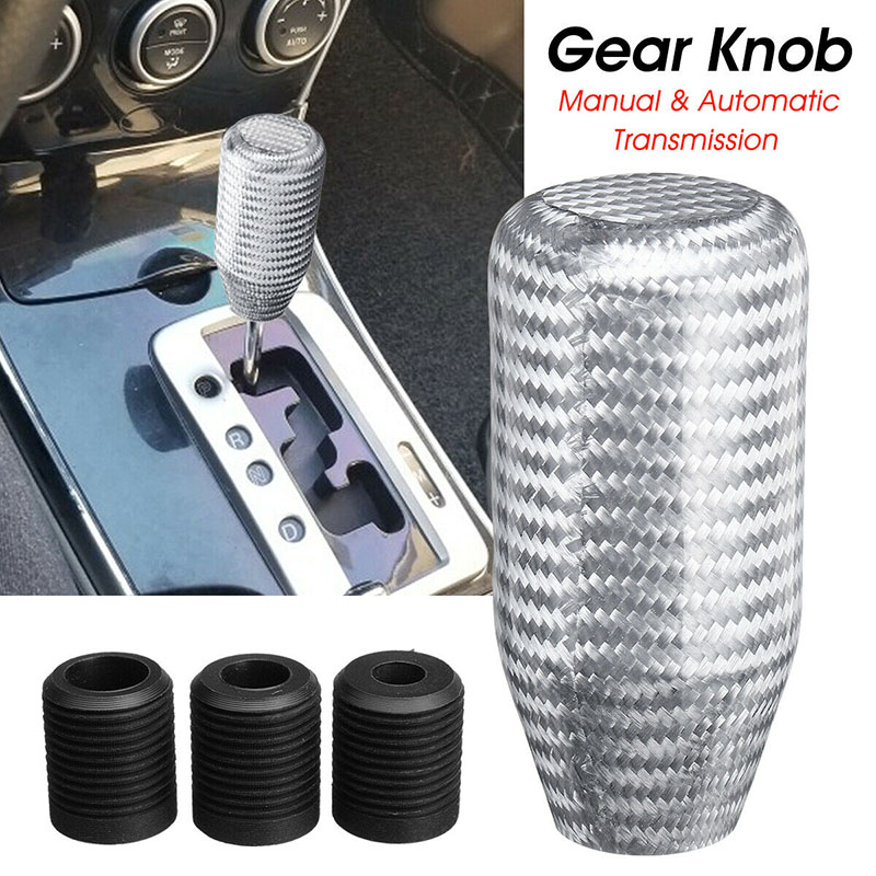 Hot Carbon Fiber Car Manual Automatic Transmission Gear Shifts Knob Shifter J99 in Gear Shift Knob from Automobiles Motorcycles