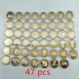 47 szt. Komplet seksownych monet 6 euro lady man bi metal srebrny pozłacany 32 mm valentine lover prezent zabawy dla dorosłych ozdoba moneta