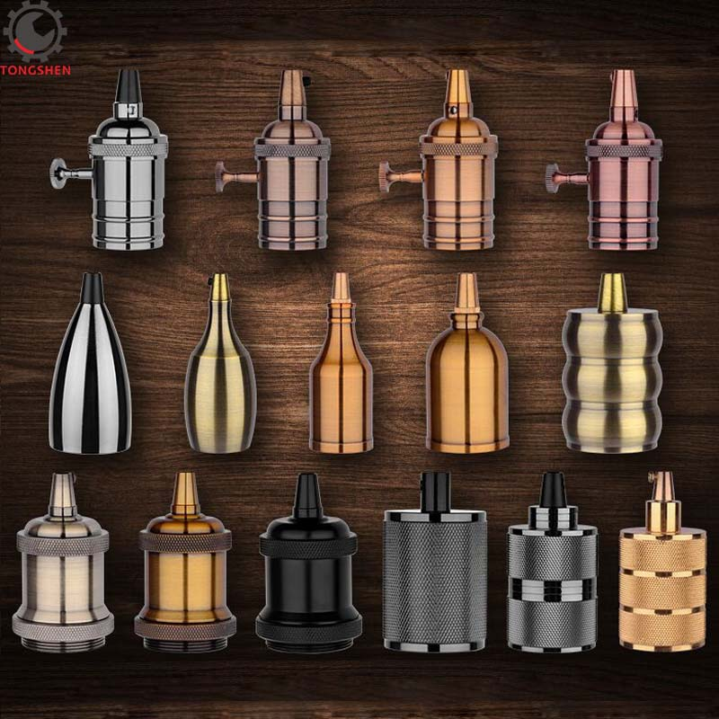 Vintage E27 Socket Edison Retro Aluminum Pendant E27 Lamp Holder Bulb Holder Lamp Base Decorative Light Fittings Light Socket