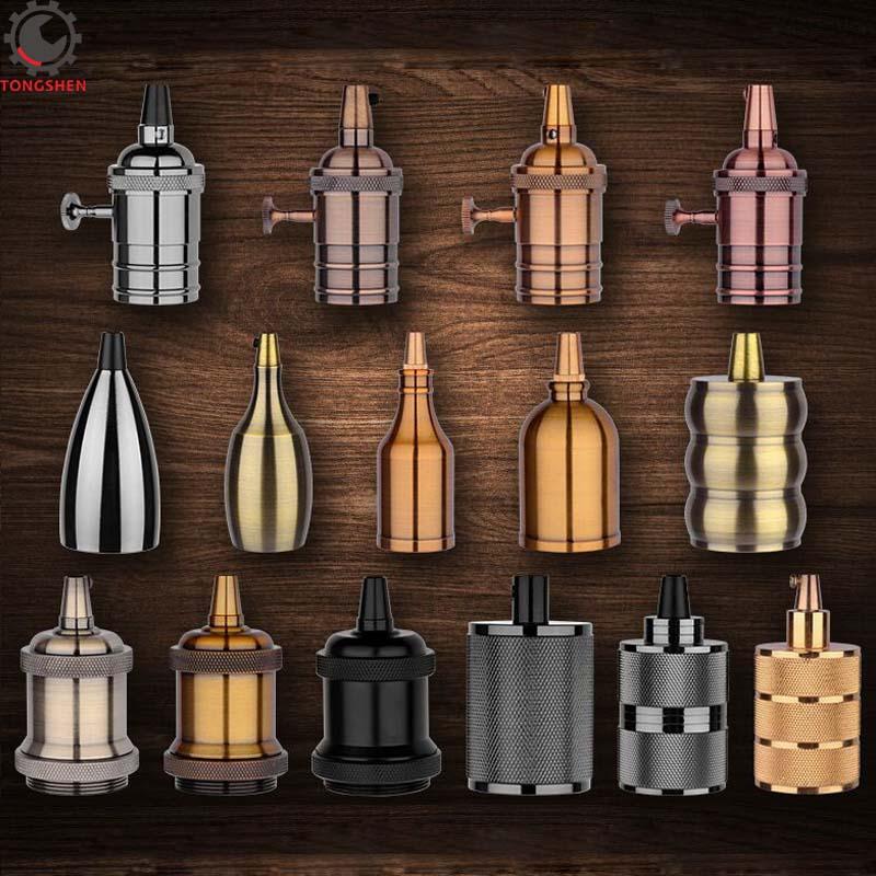 Vintage E27 Socket Edison Retro Aluminum Pendant E27 Lamp Holder Bulb Holder Lamp Base Decorative Light Fittings Light Socket