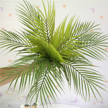 Artificial Plant Flowers Decorative Tropical Leaves Wedding Home Party Decor Plastic Green Fern Leaf Flower Accessories