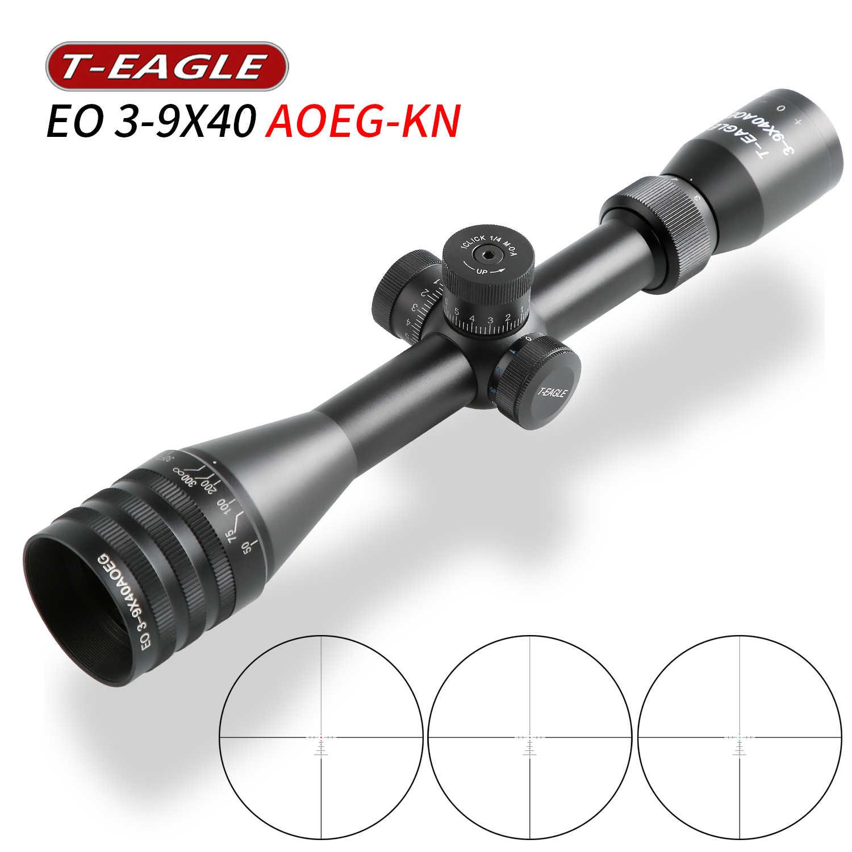 T-EAGLE, MR 3-9x40, mira telescópica táctica, luces rojas y verdes, mira telescópica para Rifle, mira óptica de caza de punto rojo