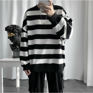Sweaters for men Vintage Pullover Pattern Knittwear O-neck Sweater Mens Streetwear Sweater Hip Hop Oversize Casual Retro Sweater