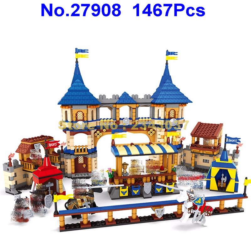 Ausini 27908 1467 sztuk knights castle royal arena budynku zabawki z klocków w Klocki od Zabawki i hobby na  Grupa 1
