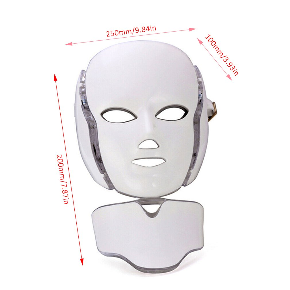 pele terapia rosto mascara pescoco luz infravermelha 05
