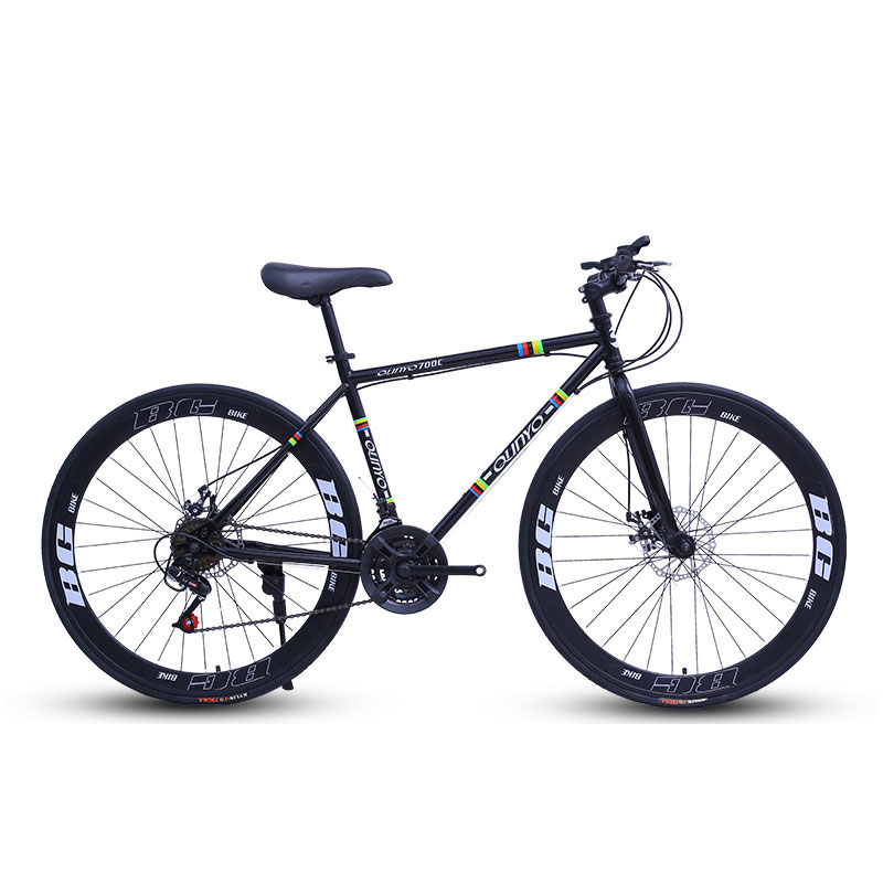 Cycling Bicycle 24 Speed 60 Knife Men And Women  Road Racing Double Disc Brakes Pneumatic Tire Solid Tire Adult