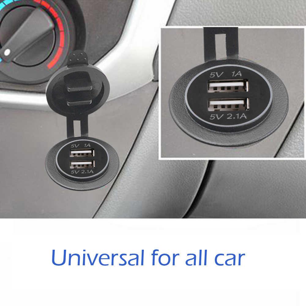 سيارة USB غطاء شاحن لدراجة نارية السيارات شاحنة ATV قارب LED سيارة 3.1A المزدوج مقبس Usb 12-24V السيارات USB شاحن محول الطاقة