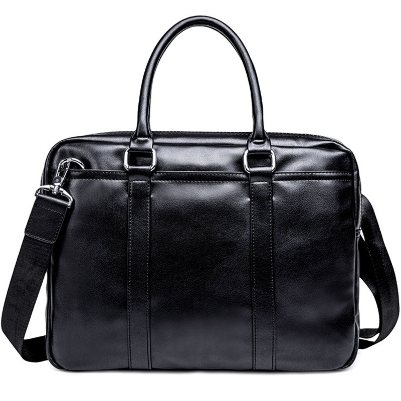 Simple Business Men Briefcase Handbag PU Leather Laptop Bag Fashion Casual Shoulder Bags Black Office Briefcase Male New XA634ZC