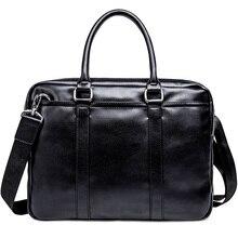 Simple Business Men Briefcase Handbag PU Leather Laptop Bag Fashion Casual Shoulder Bags