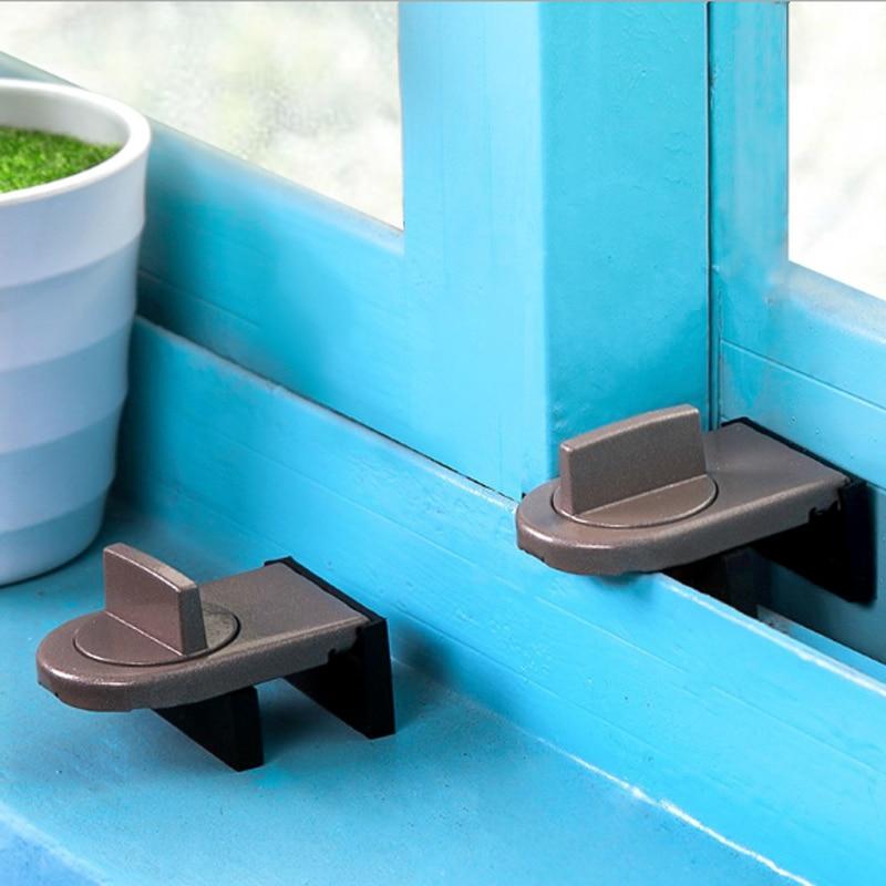 Window Sliding Door Baby Safety Lock Sliding Sash Stopper Doors Security Anti-theft Lock