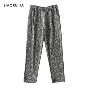 Image 5 - BIAORUINA kadın rahat pamuk karışımları rahat pijama seti kadın sıcak tutmak uyku seti sonbahar kış gevşek rahat setleri
