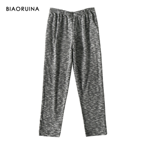 Image 5 - BIAORUINA 女性の快適なコットンカジュアルパジャマセット女性保温睡眠セット秋冬ゆるいカジュアルセット