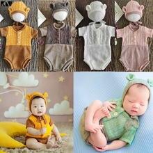 2 шт Детский комбинезон шапка комплект детский вязаный новорожденные