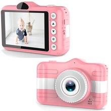 Mini dijital kamera 3.5 inç karikatür sevimli çocuklar için kamera 12MP 1080P HD fotoğraf Video çocuk kamera doğum günü hediyesi çocuklar için
