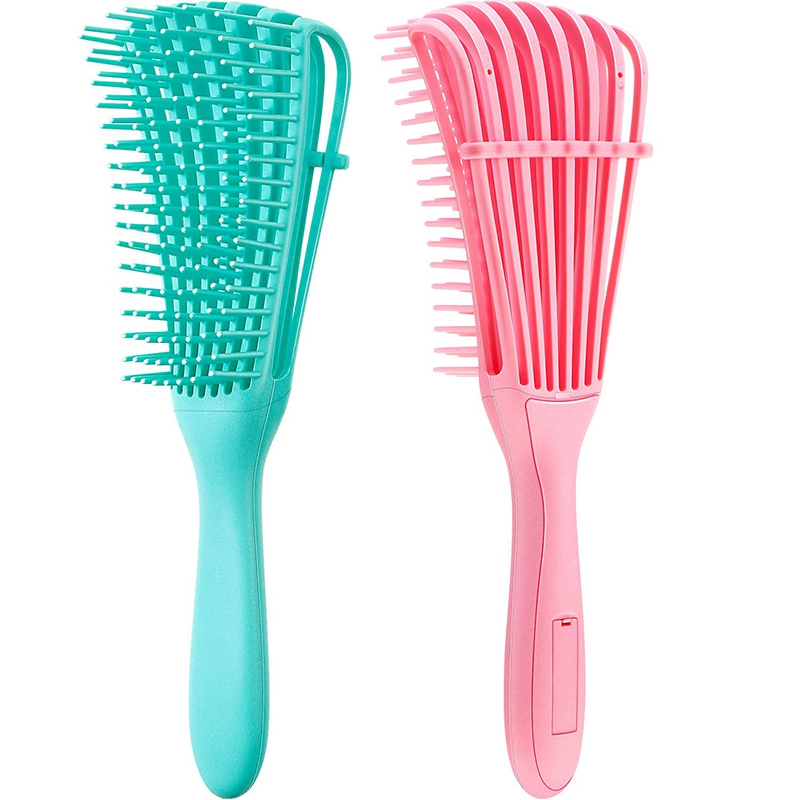 2 Pieces Detangling Brush For Hair Textured 3A To 4C Kinky Wavy/Curly/Coily/Wet/Dry/Oil/Thick/Long Hair, Knots Detangler Easy To