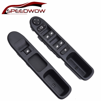 SPEEDWOW Electric Master Control Power Lifter Window Switch Window Panel Master Switch 6554.KT 6554KT 96351625XT For Peugeot 307