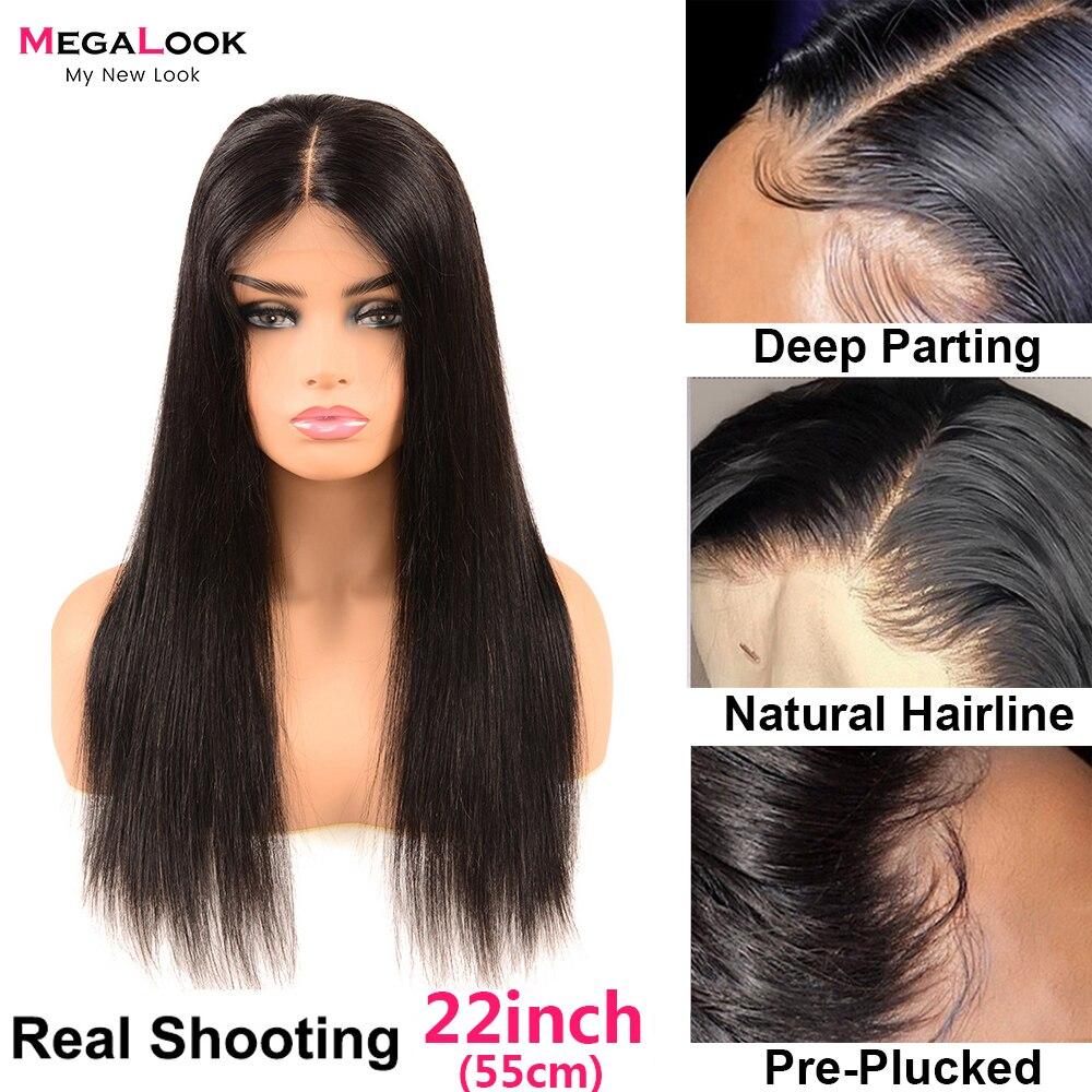Peruca reta perucas frontal do laço transparente