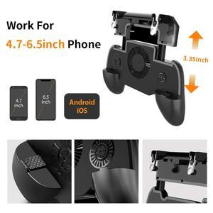 Image 5 - Controlador gamepad joystick r1 l1 shooter joypad jogo almofada refrigerador ventilador com 2000/4000mah power bank l1r1 para telefone android iphone
