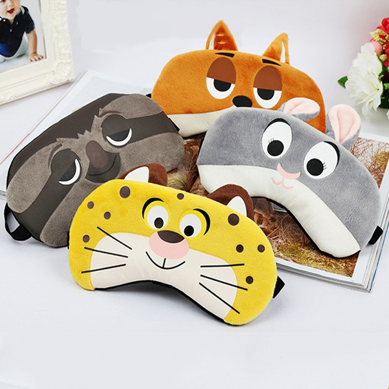 Cartoon Sleep Eye Mask Cute Funny Anime Eye Cover Sleeping Mask Kids Eye Shade Band Blindfolds Sleep Aids Travel Rest Eyepatch