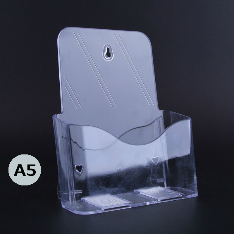 A5 Layer Of Flyer Catalogue Rack Acrylic Display Rack Single-layer Transparent Plexiglass Display Box