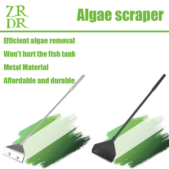 ZRDR Stainless Steel Aquarium Fish Tank Algae Scraper Blade Aquatic Water Live Plant Grass Cleaning Multi-Tool Cleaner Kit Set