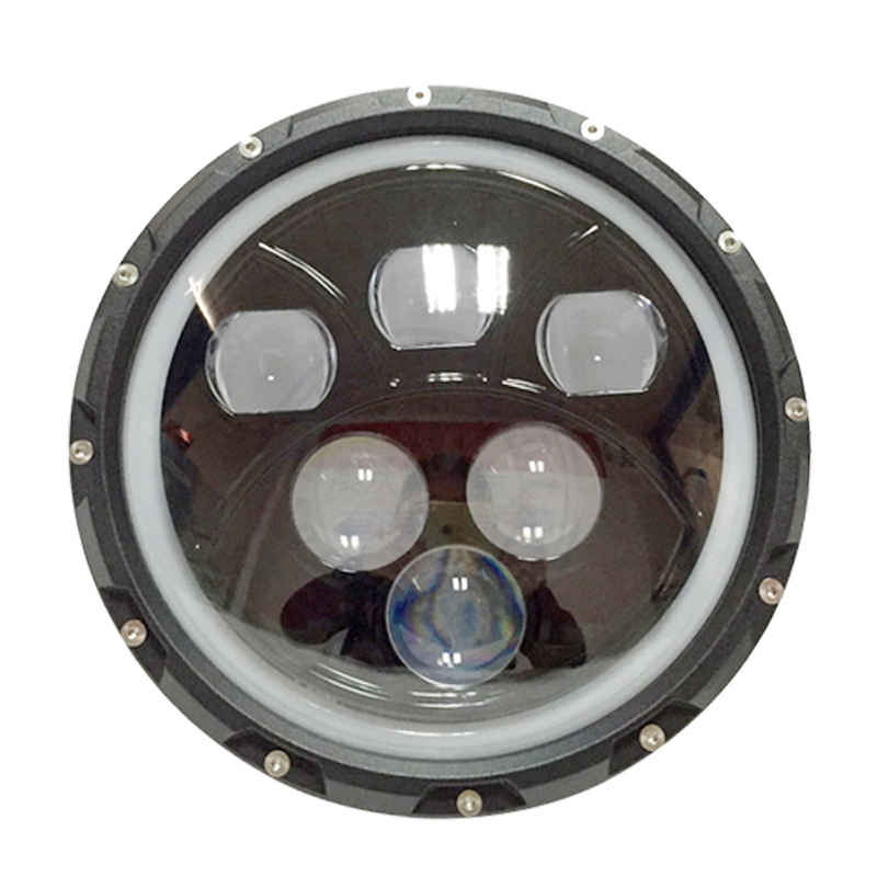 ODIFF Off Road Vehicle Motorcycle Refitted With White Headlight 60W Herdsman 7-inch Round LED Headlight